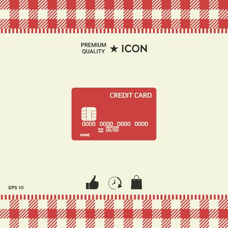 Credit card icon.