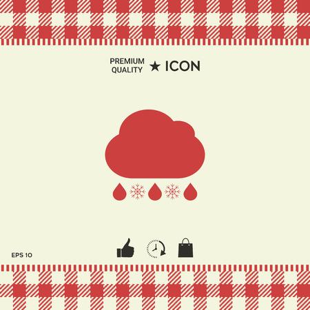 Cloud rain snow icon. Illustration