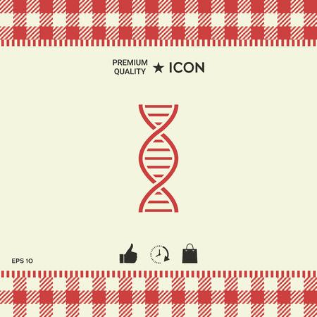 DNA symbol icon.