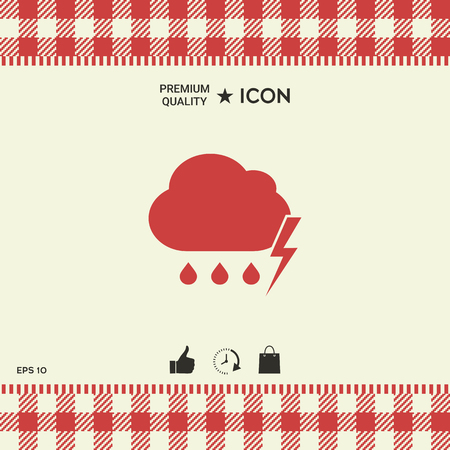 Cloud thunderstorm lightning rain icon. Element for your design