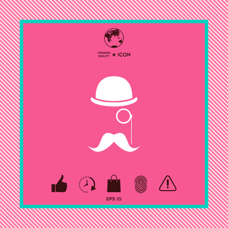 Graphic element for your design on pink background illustration.