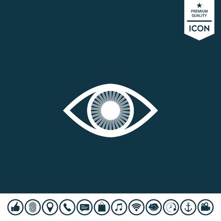 Eye symbol with iris Vector illustration. Illustration