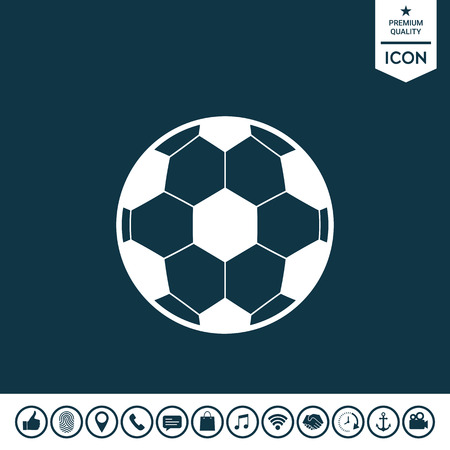 Football symbol. Soccer Ball Icon Vector illustration.