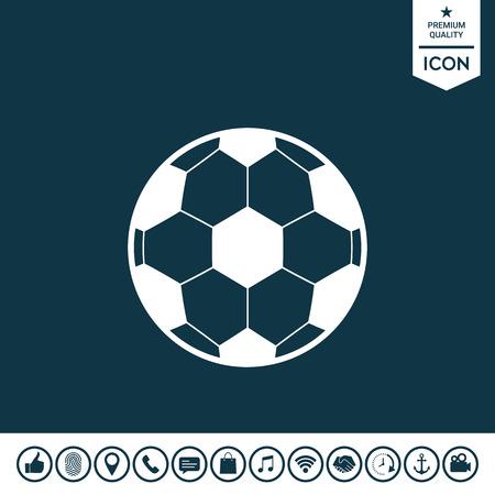 Football symbol. Soccer Ball Icon Vector illustration.