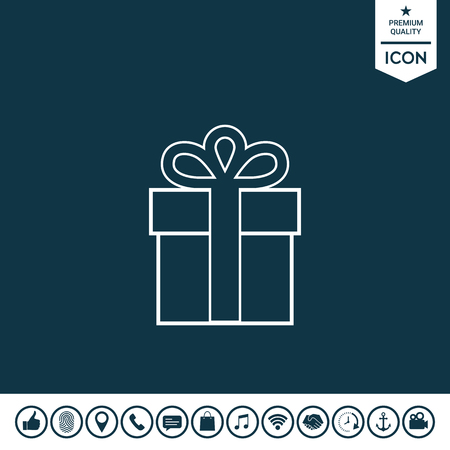 Gift box symbol Vector illustration.