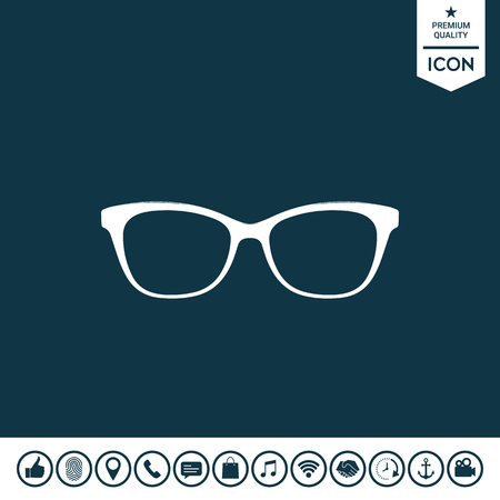 Glasses symbol Icon Vector illustration.