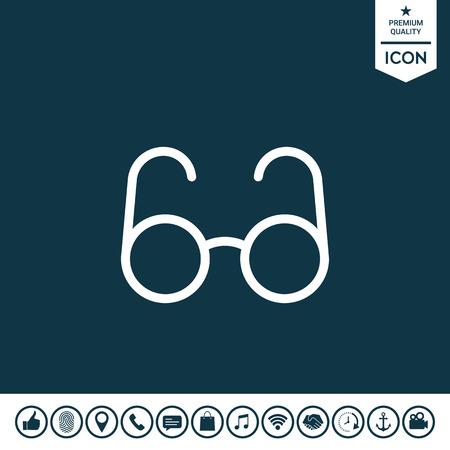 Glasses symbol - search icon Vector illustration. Illustration