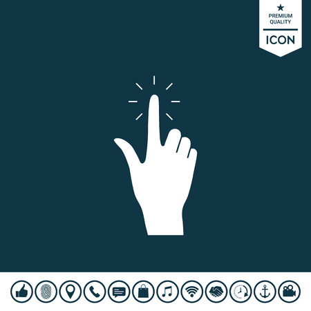 Hand click   icon Vector illustration.