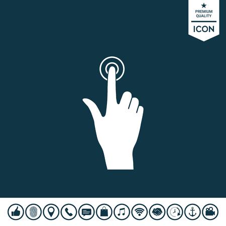 Hand click icon Vector illustration.