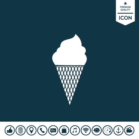 Ice cream symbol icon