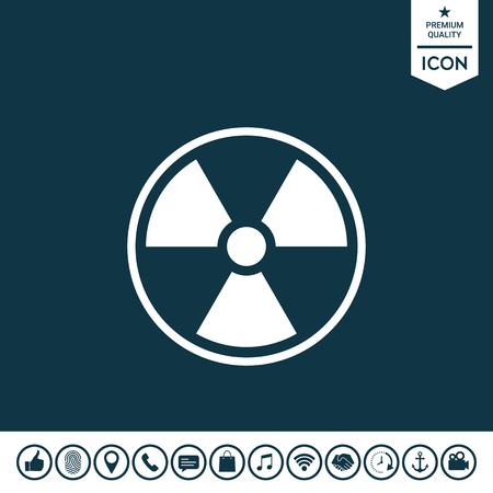 Ionizing radiation icon illustration.