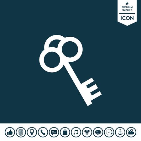 Key icon illustration. Illustration