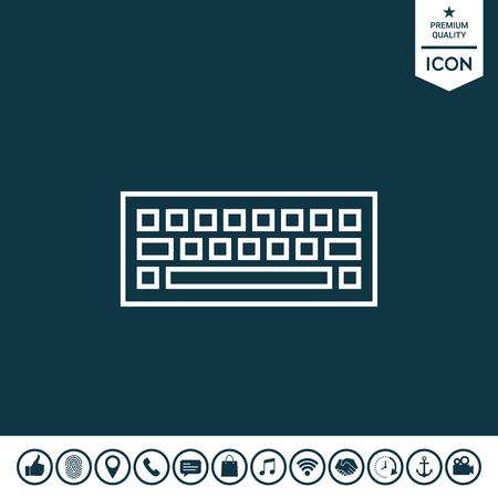 Keyboard icon illustration.