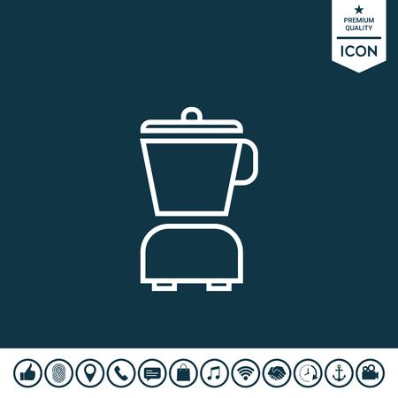 Kitchen blender linear icon illustration. Illustration