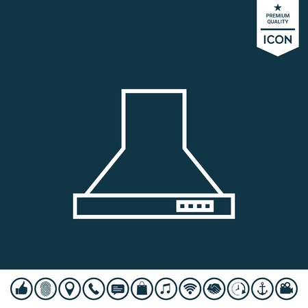 Kitchen hood linear icon illustration.