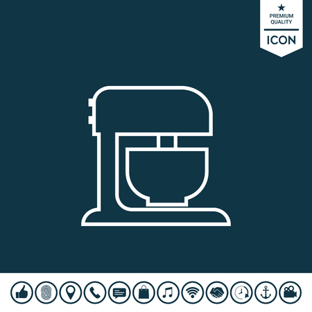 Kitchen mixer linear icon illustration.
