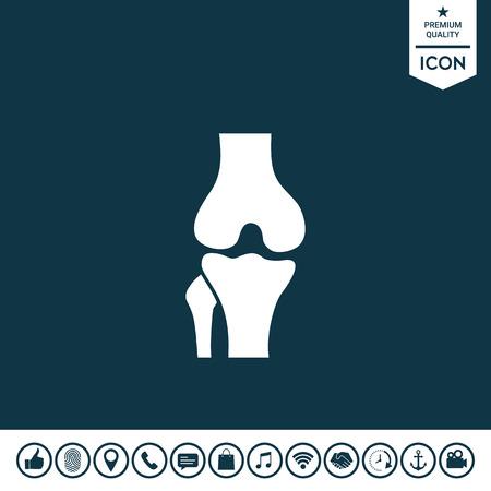 Knee joint icon illustration.