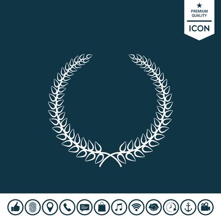 Laurel wreath elegant symbol for your design. Illustration