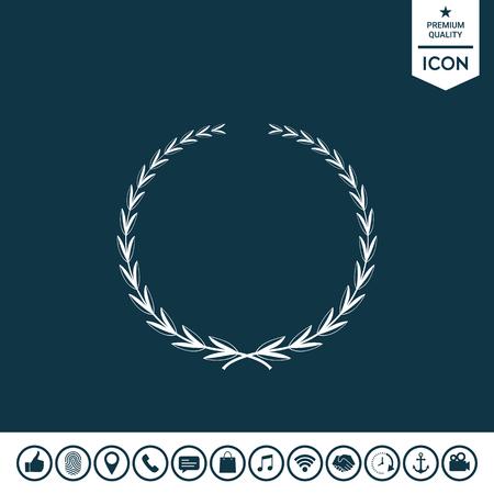 Laurel wreath symbol  illustration.