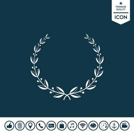 Laurel wreath  illustration.