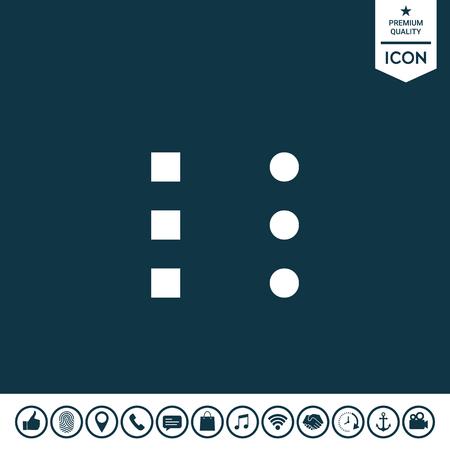 Icône de menu pour les applications mobiles et les sites Web Banque d'images - 92527570