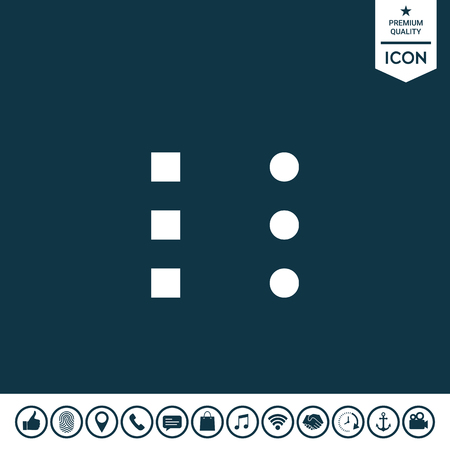 Menu icon for mobile apps and websites