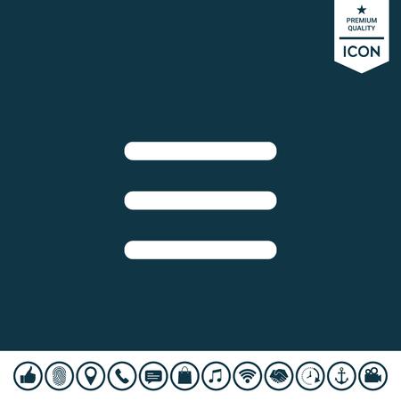 Icône de menu sur fond clair. Banque d'images - 92527571