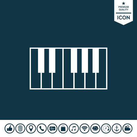 Piano keyboard icon.