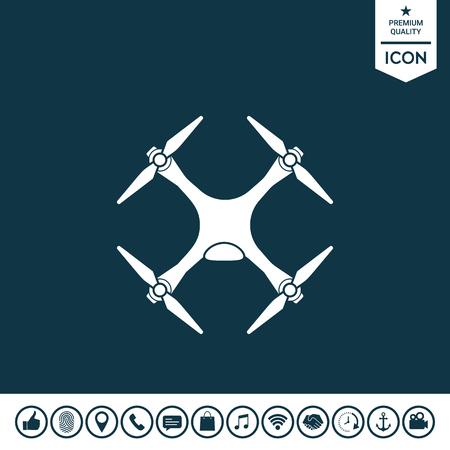 Quadcopter, drone icon. Illustration