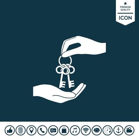 Receiving the bunch of keys illustration.