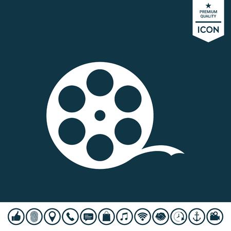 Reel film symbol illustration. Illustration