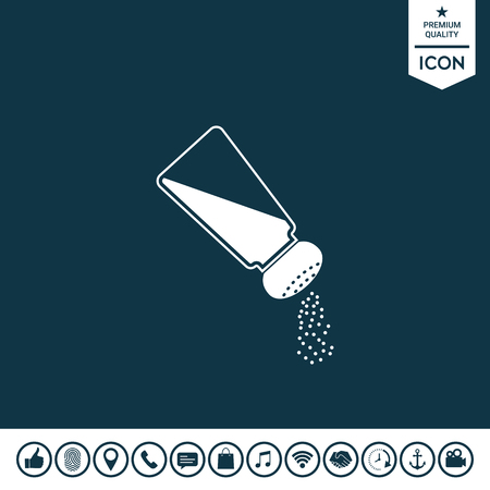 Salt or pepper shaker illustration. 일러스트