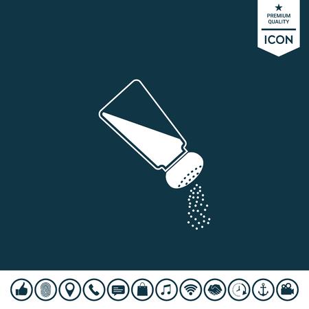 Salt or pepper shaker illustration. Stock Illustratie