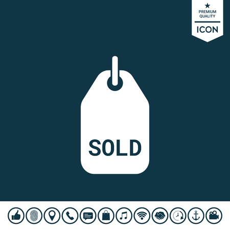 Sold tag illustration.