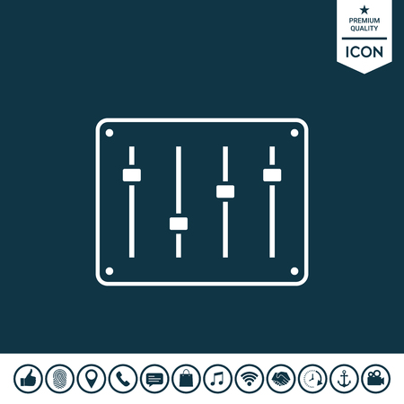 Sound mixer console icon illustration.