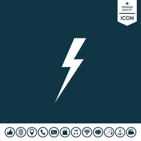 Thunderstorm lightning icon illustration. Illustration