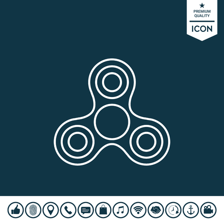 Tri Spinner icon Vector illustration.