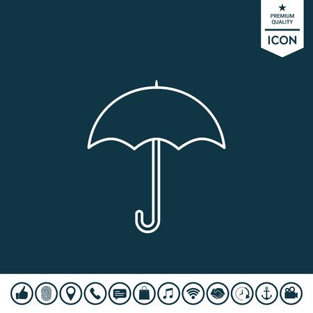 Umbrella line icon Vector illustration.