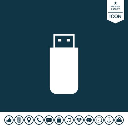 USB flash memory drive icon illustration.