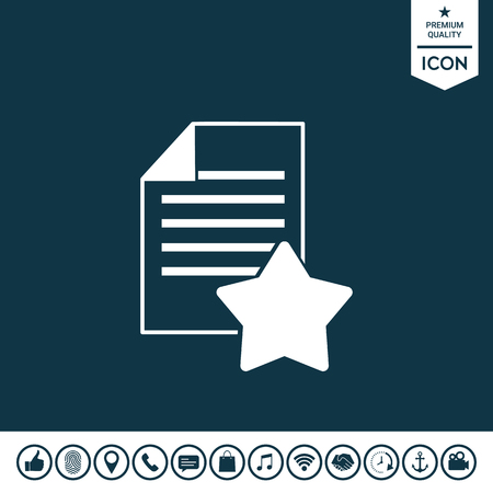 Warranty sheet of paper with a star. Icon Vector illustration.