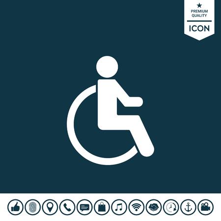 Wheelchair handicap icon Vector illustration.