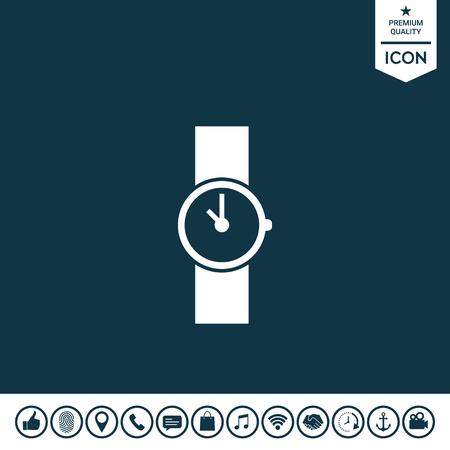 Wristwatch icon Vector illustration. Illustration