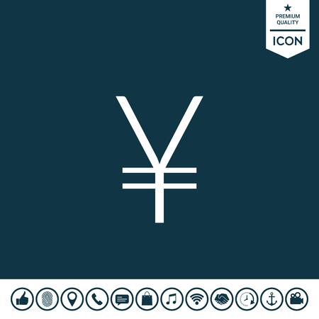 Yen symbol icon Vector illustration.