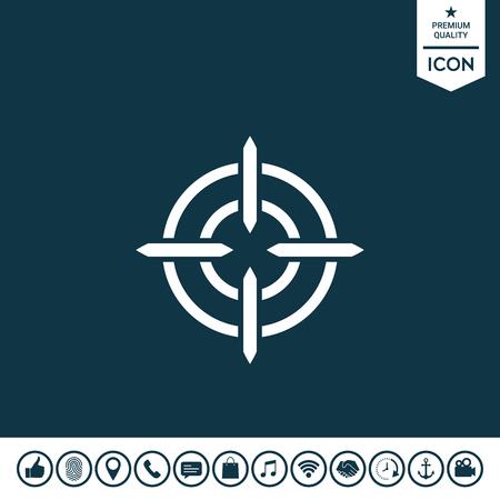 Aim icon symbol. Element for your design illustration.