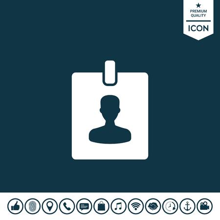 Badge symbol icon on plain background.