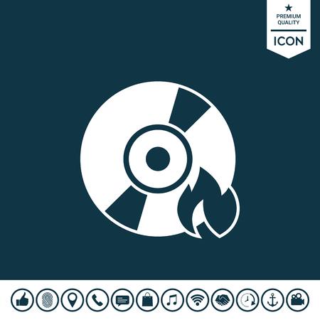 Disc icon. Illustration