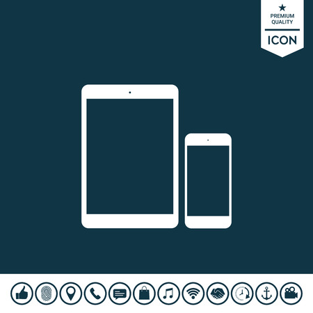 Mobile phone icon. Illustration