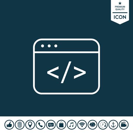 Code editor icon vector illustration.