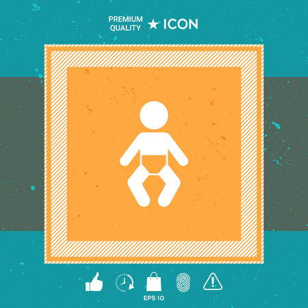 Graphic element of baby for your design.