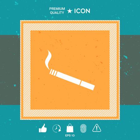 Cigarette, Graphic element for your design.